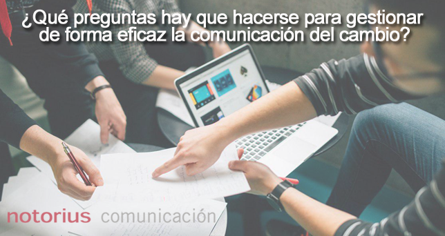 Cómo gestionar la comunicación del cambio