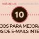 Consejos para mejorar los envíos de emails internos